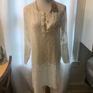 Hand Beaded Chiffon Tunic